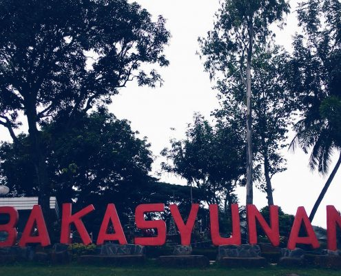 Bakasyunan sign greeting all travelers by the entrance