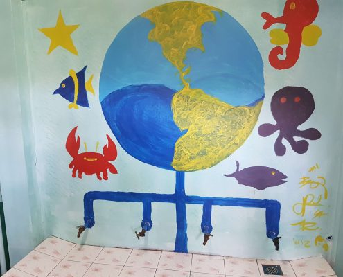 Leadya Painting Activity part 1 - Globe and Sea Animals